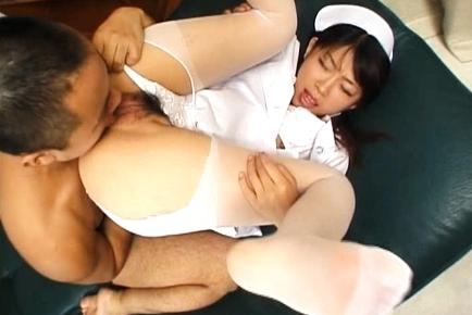 Ryo Hazuki Naughty Asian nurse gives a hot blowjob