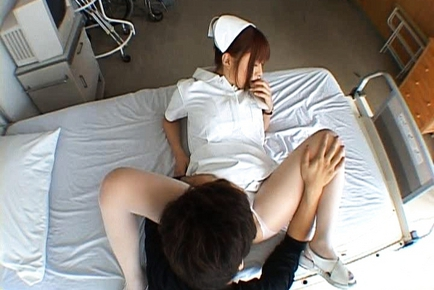 Kokomi Naruse Lovely sexy Asian doll in a white coat