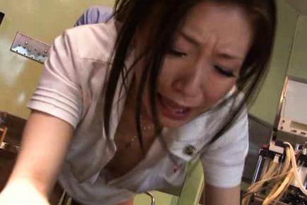 Emi Harukaze Lovely Asian nurse enjoys fucking