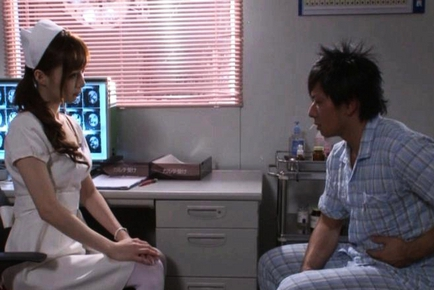 Kaede Fuyutsuki Hot Japanese nurse enjoys sex