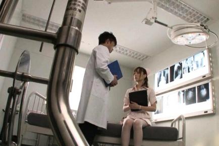 Kaede Fuyutsuki Hot Asian nurse is horny