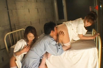 Aki Mizuhara and Misaki Asou big boobed Asian nurses like sex