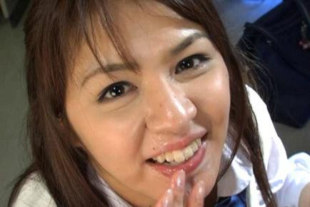 Mina Nakano Asian babe is a wild teen in school uniform