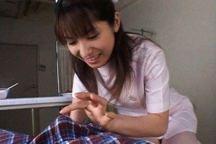 Ann Nanba Lovely Asian babe licks a banana