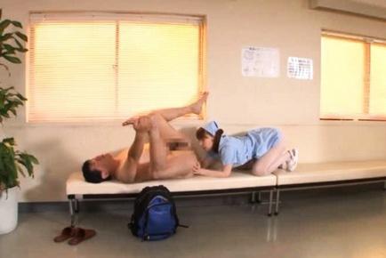 Miho Ashina naughty and kinky Asian nurse