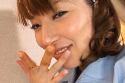 Miho Ashina naughty and kinky Asian nurse