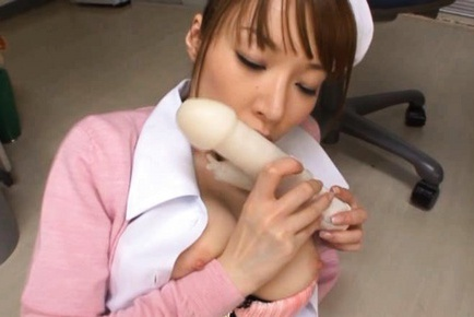 Miho Ashina naughty, and juicy Asian nurse