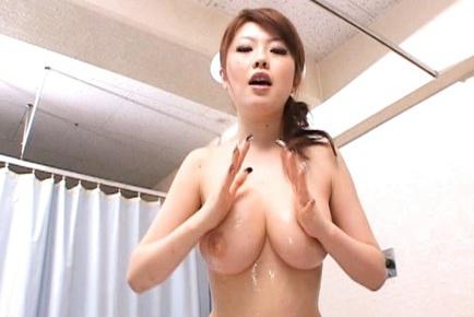 Rio Hamasaki Asian babe fondles a hard cock