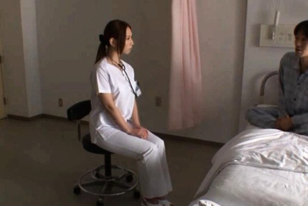 Juicy ass nurse Ai Sayama likes to show off her sexy booty