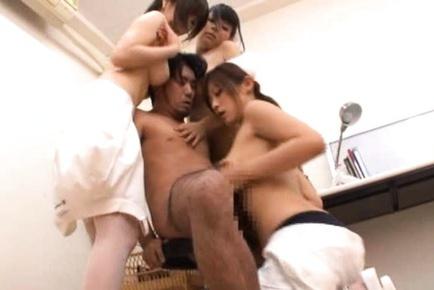 Japanese babe hot station fuck
