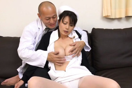 Busty mature nurse Eriko Miura is drilled by a horny doctor