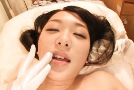 Kinky Nana Usami likes to blow hard dick