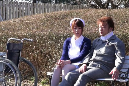 Delicious Japanese nurse sucks rod and makes cock riding