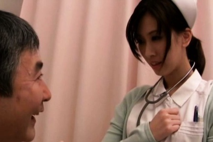 Hot Japanese nympho Anna Noma rides dick of her patient