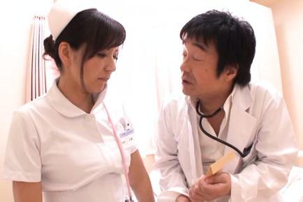 Pussy licking with wild nurse Chihiro Uehara