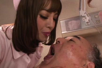 Lusty nurses Chacha Anku, and Mao Miyabi in hot three way fucking