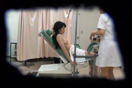 Sweet Japanese AV Model gets fucked hard by by doctors