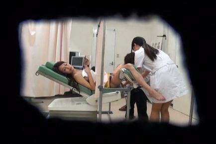 Japanese AV Model comes to visit a horny gynecologist