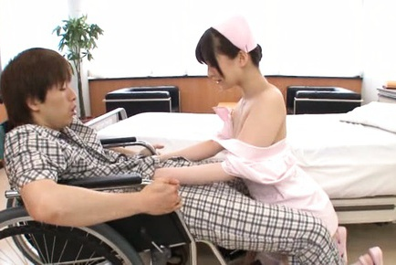 Kinky Japanese nurse Saya Niiyama bounces on impressive rod