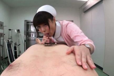 Naughty Asian teen Haruna Ikoma deeptroats horny guy on pov video