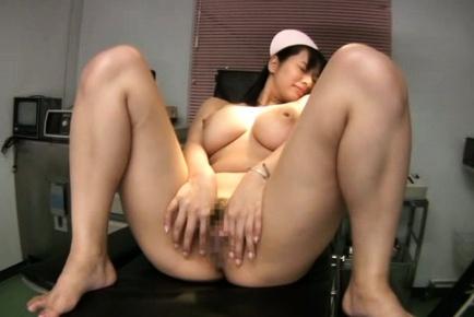 Alluring Japanese nurse Hana Haruna entrances guy with huge boobs