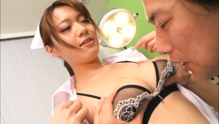 Charming Asian nurse in lingerie Eri Hosaka satisfies her patient