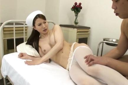 Free photo japanese nurse in pantyhose homemade bisexual