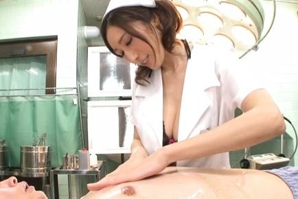 Nurse in kinky lingerie is penetrated in